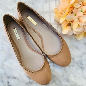 Louise et Cie Nude Round Toe Leather Flats 9